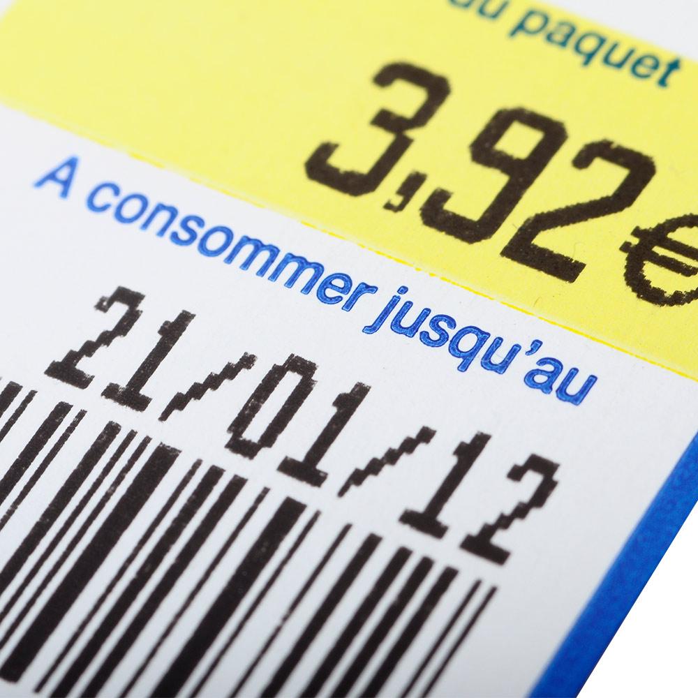 Etiquetas para Precio y Caducidad de alimentos