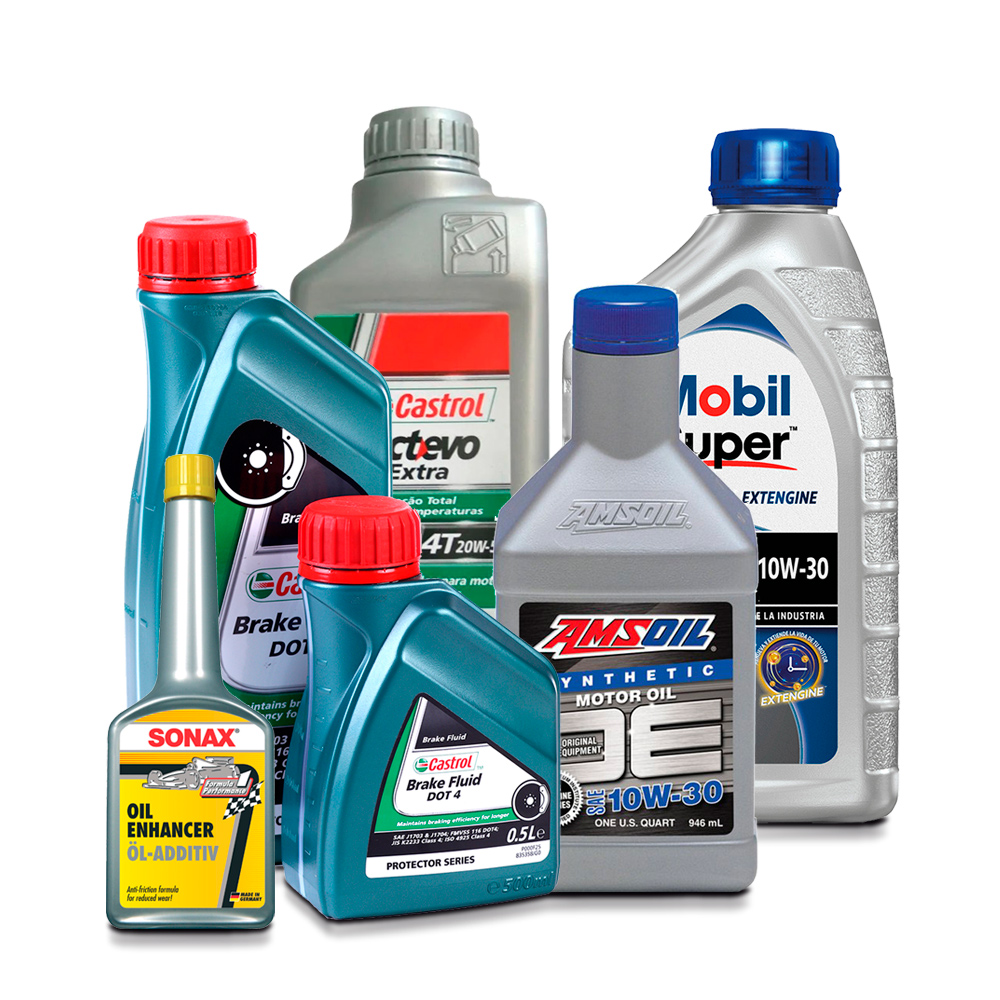 Etiquetas de productos para Lubricantes y Aceites