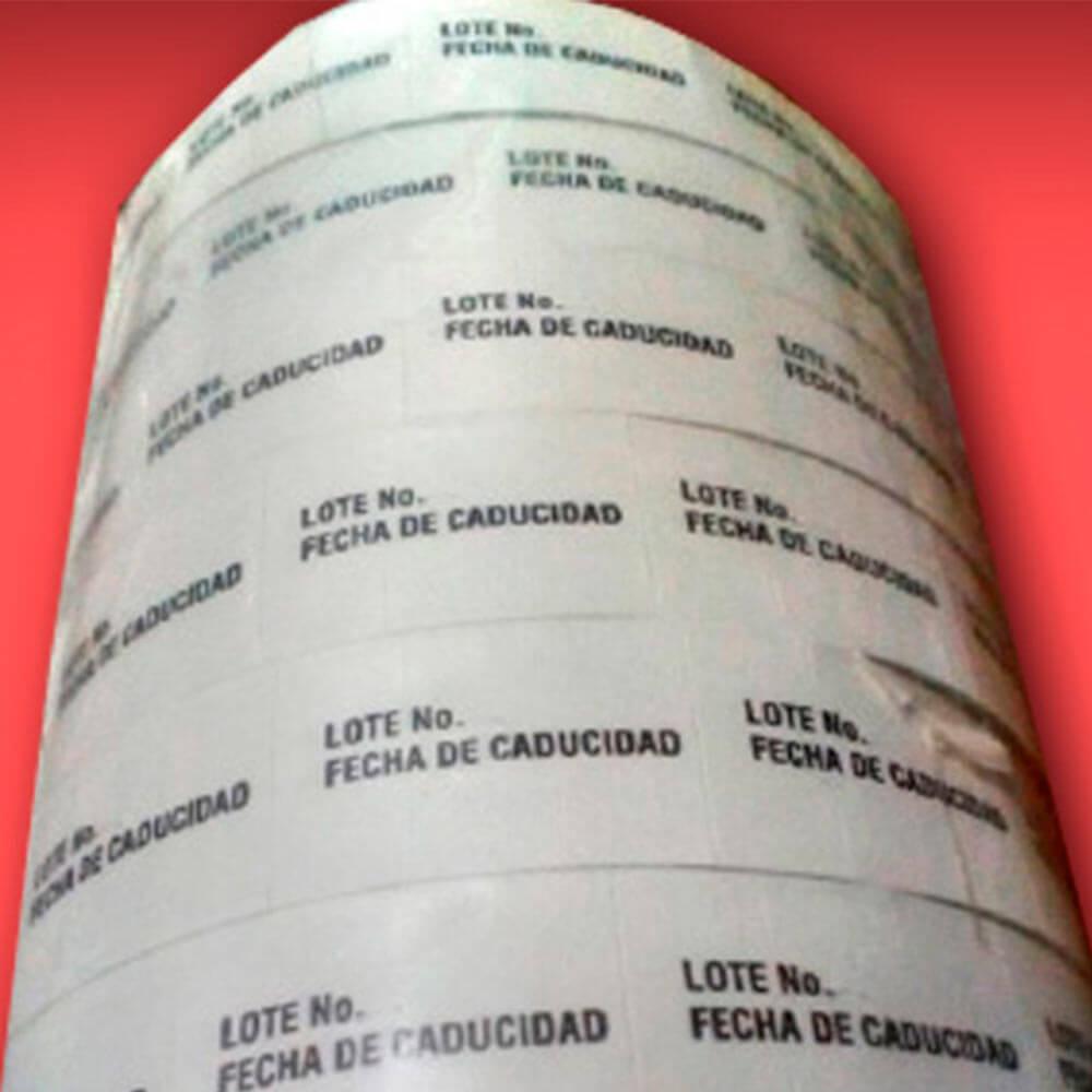 Etiquetas de Lote y Caducidad para bebidas