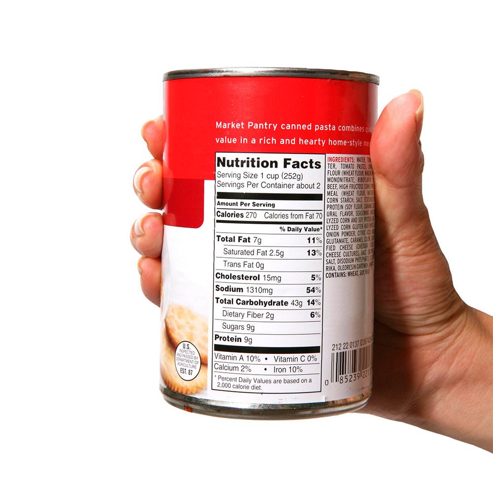 Etiquetas de información nutricional (Tabla Nutricional)