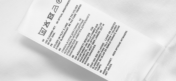 Etiquetas para ropa autoadheribles