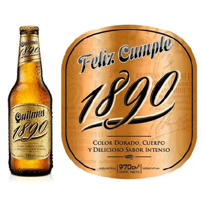 Etiqueta de marca para bebidas