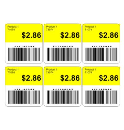 Etiqueta de precio para bebidas
