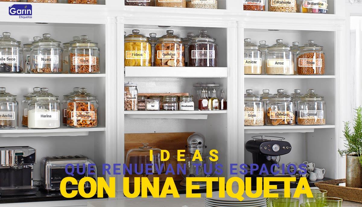 Aprende a organizar tu cocina con etiquetas