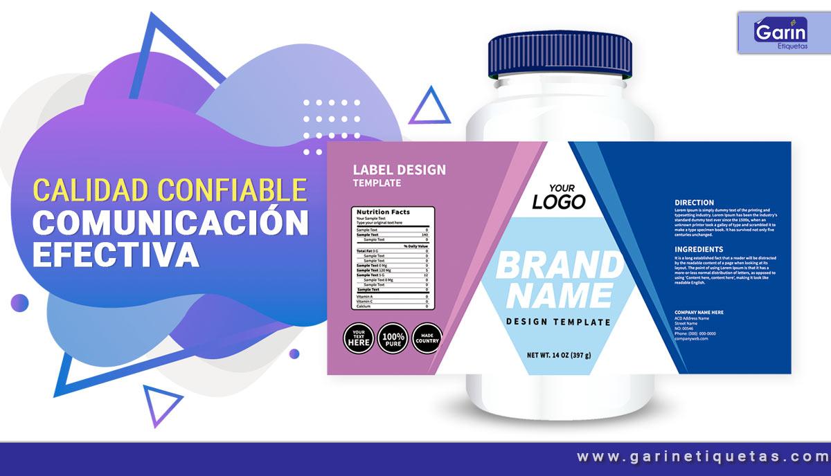 Etiquetas farmacéuticas