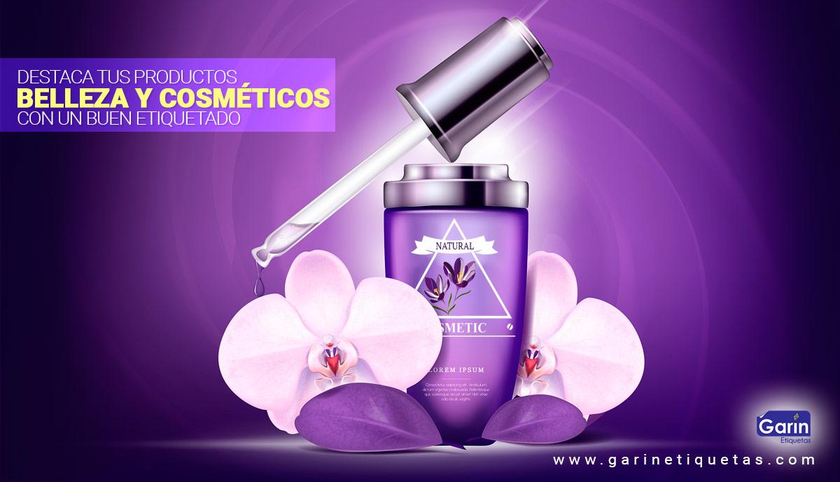 Etiquetas para productos de belleza