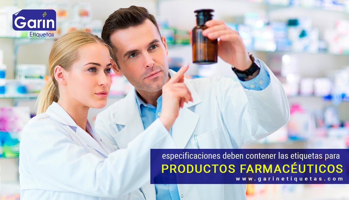 Generalidades de las etiquetas farmacéuticas