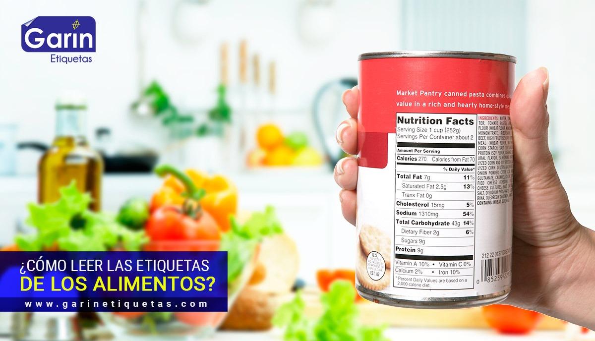 Etiquetas de alimentos