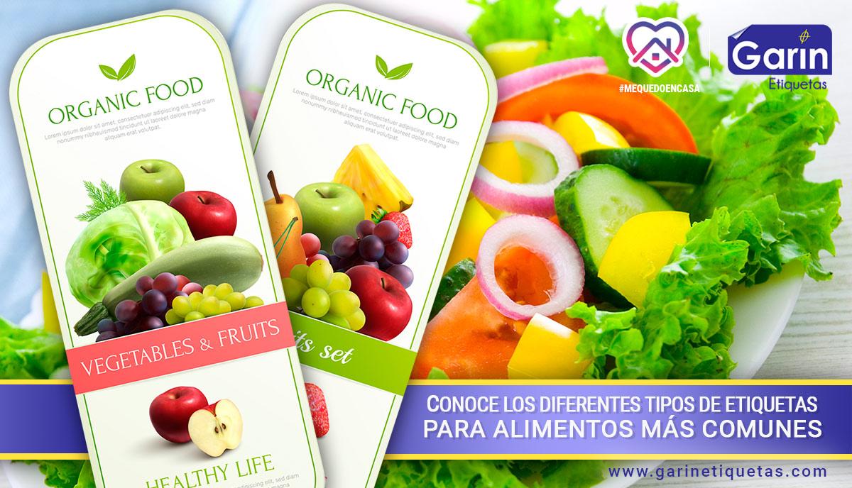 Tipos de etiquetas para alimentos