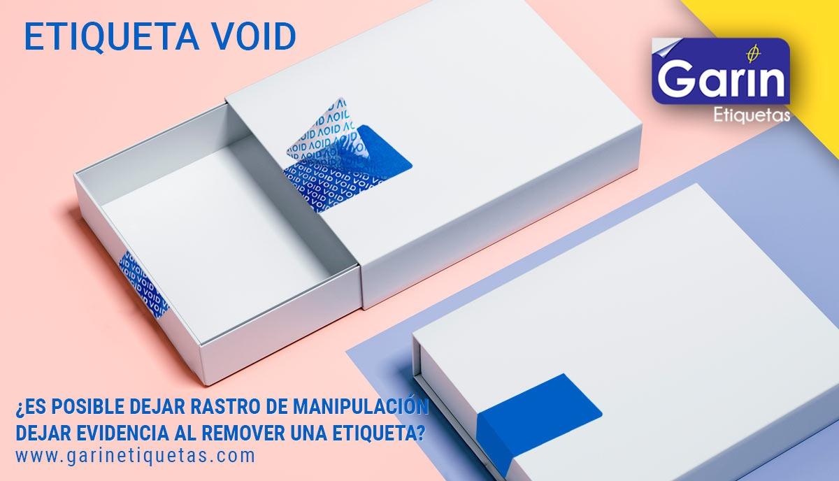 Etiquetas de seguridad a prueba de manipulaciones y garantía de sellado.