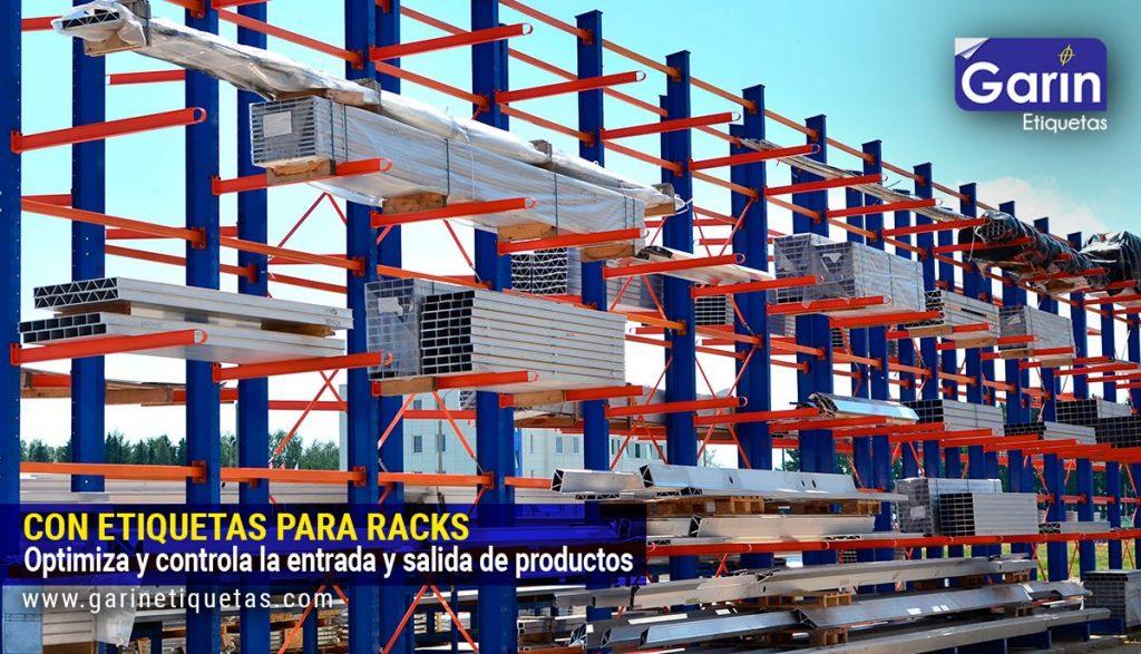 Etiqueta con código de barras para Racks