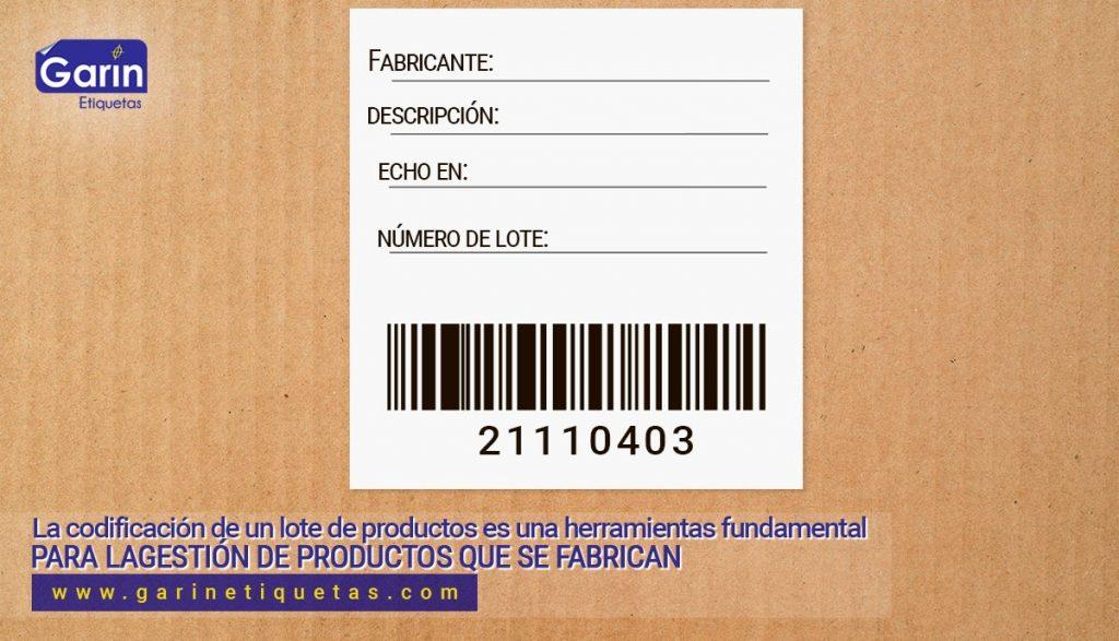 etiquetas para lotes de producción