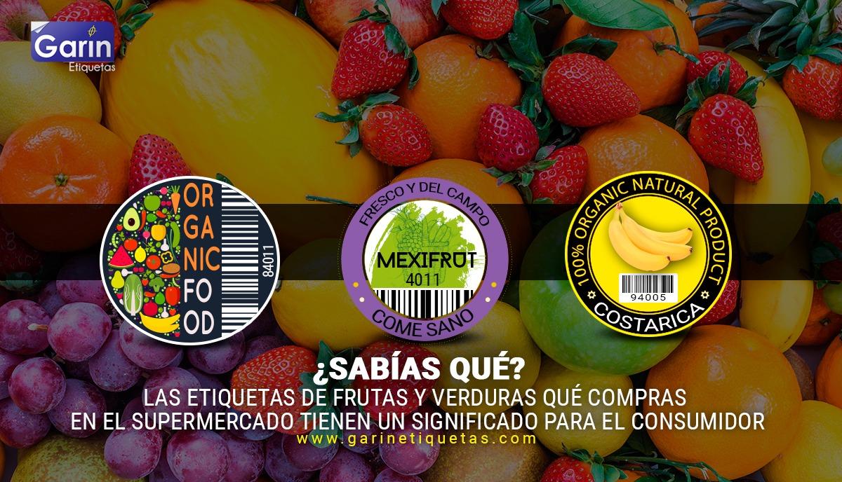etiquetas de frutas y verduras