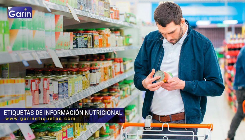 etiquetas en los envases de alimentos Tabla nutricional