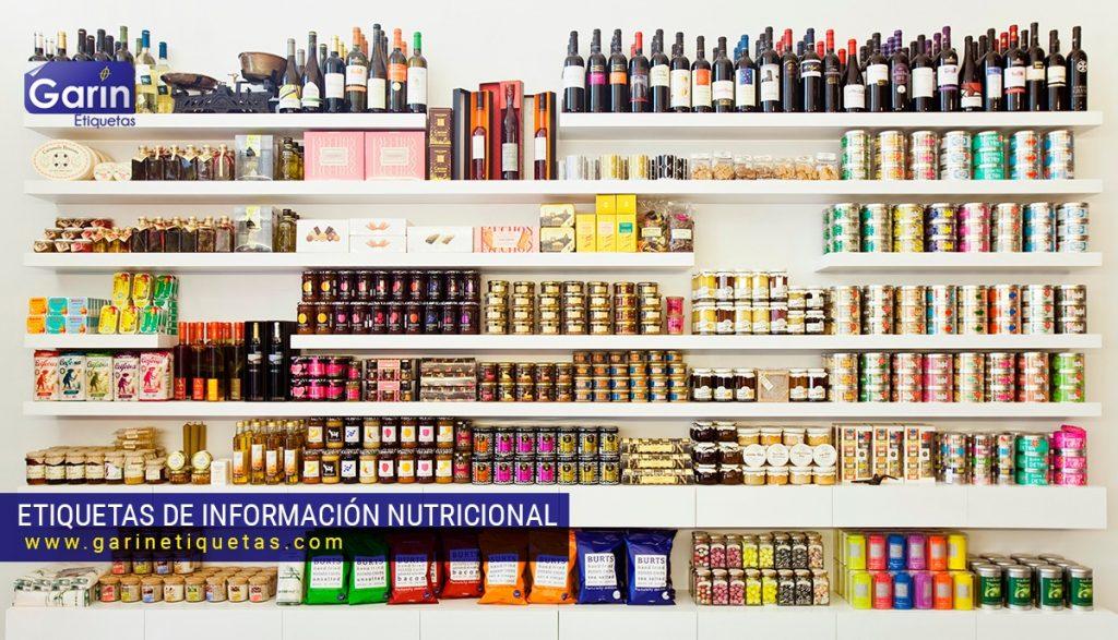 etiquetas en los envases de alimentos y bebidas