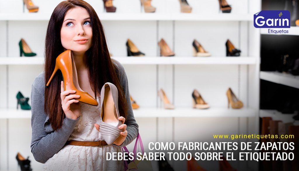 Etiquetas de calzado - Lo que necesitas